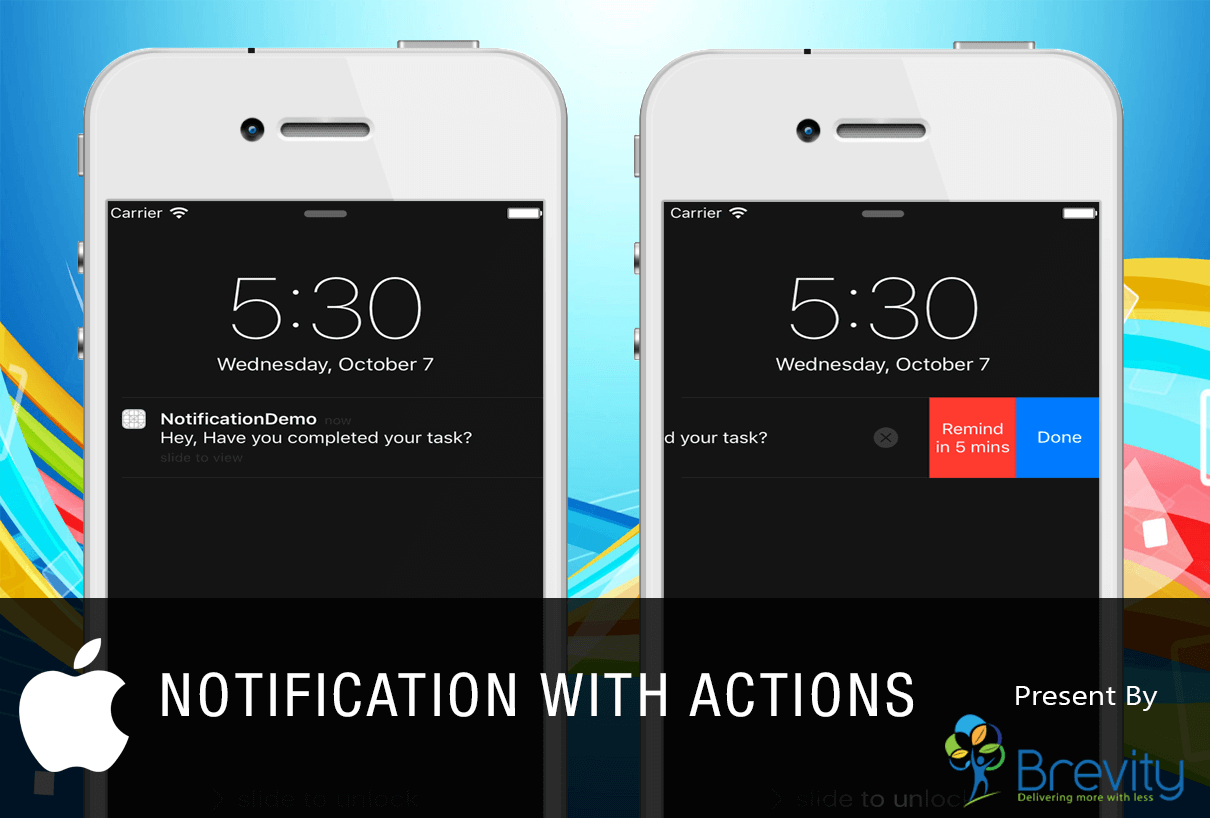 Notification with actions