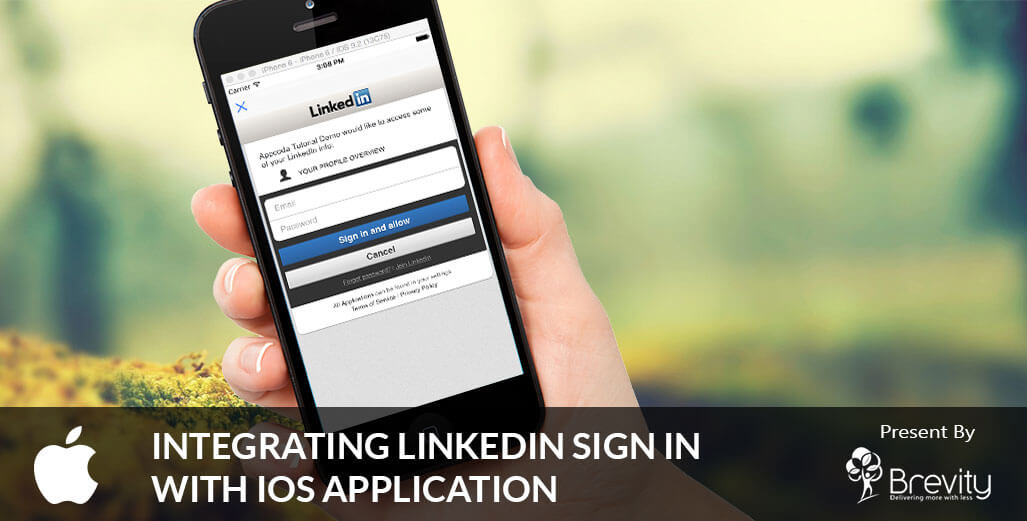 Integrating LinkedIn sign in in iOS application