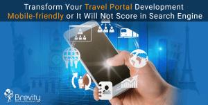 Mobile friendly travel portal development solutions