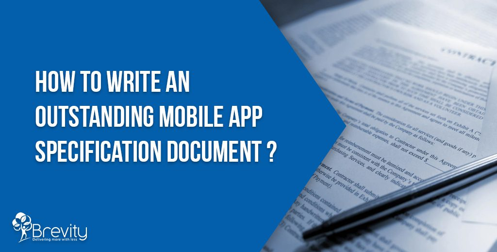 Mobile app specification document