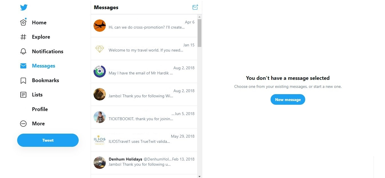 Direct messages new UI